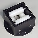 "1.5"" Max - Fixed Box Polyethylene Box Rollers - BRF-150"