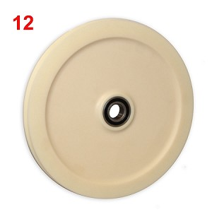 "12"" CAST NYLON SHEAVE, ROUND GROOVE, INTERLOCKING, WITH BEARING (12-NRI)"