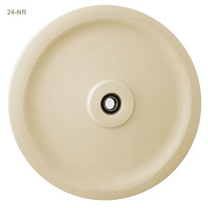 "24"" CAST NYLON SHEAVE, ROUND GROOVE, WITH BEARING (24-NR)"