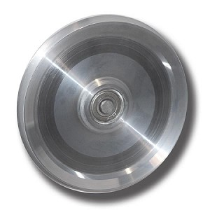 "5"" ALUMINUM (6061) SHEAVE - ROUND GROOVE WITH BEARING (5-ARI)"
