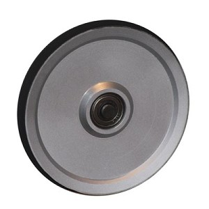 "5"" ALUMINUM (6061) SHEAVE - ROUND GROOVE, HARD COATING WITH BEARING (5-ARIC)"