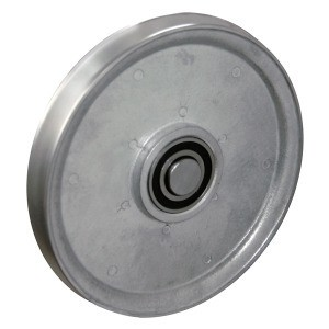 "8"" CAST ALUMINUM SHEAVE - ROUND GROOVE WITH BEARING (8-ARI)"